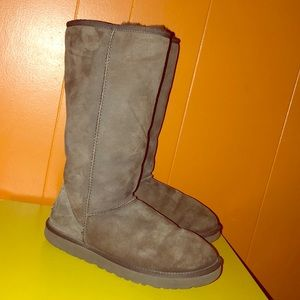 UGG 5815 Dark Brown Classic Tall Sheepskin Boots